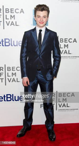 Actor Chris Colfer attends 'Struck By Lightning' Premiere during the 2012 Tribeca Film Festival at the Borough of Manhattan Community College on...