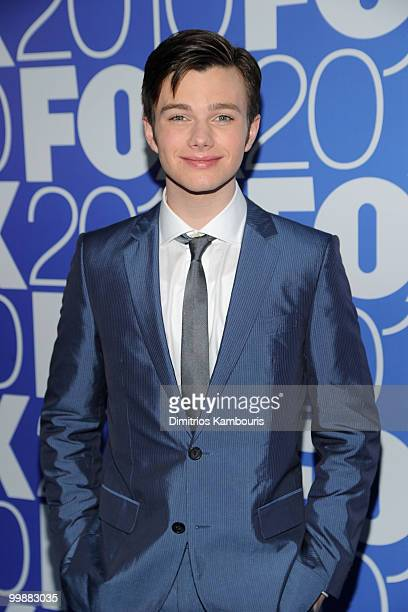 Actor Chris Colfer attends the 2010 FOX Upfront after party at Wollman Rink Central Park on May 17 2010 in New York City