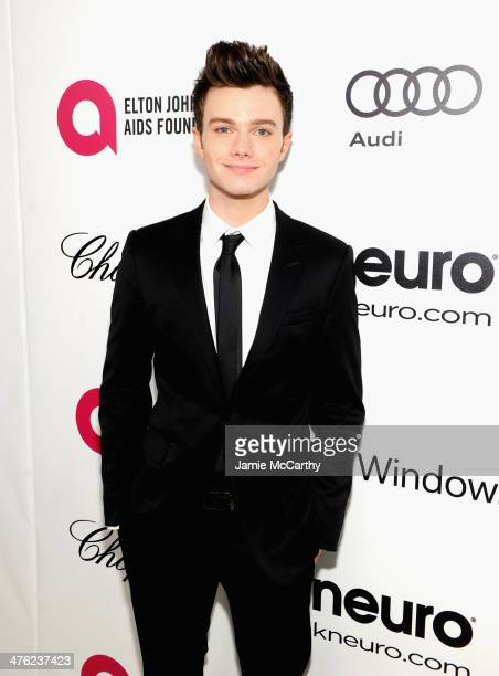 Actor Chris Colfer attends the 22nd Annual Elton John AIDS Foundation Academy Awards Viewing Party at The City of West Hollywood Park on March 2 2014...