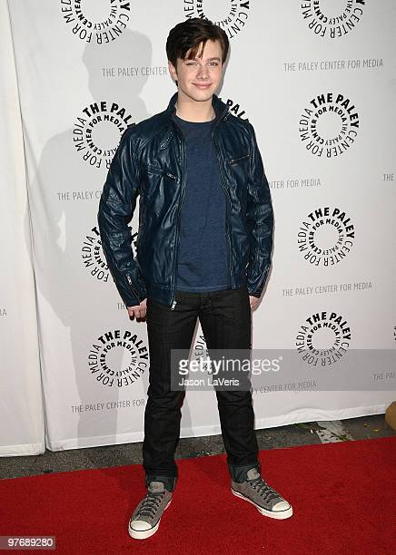 Actor Chris Colfer attends the Glee event at the 27th annual PaleyFest at Saban Theatre on March 13 2010 in Beverly Hills California