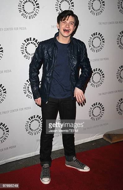 Actor Chris Colfer attends the Glee event at the 27th Annual PaleyFest at the Saban Theatre on March 13 2010 in Beverly Hills California