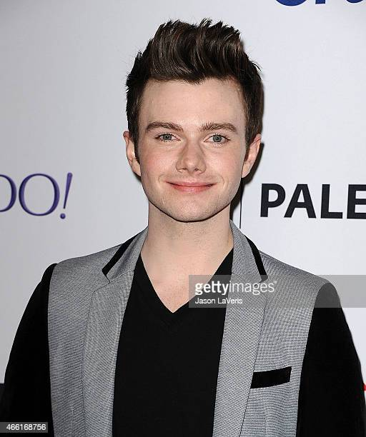 Actor Chris Colfer attends the 'Glee' event at the 32nd annual PaleyFest at Dolby Theatre on March 13 2015 in Hollywood California