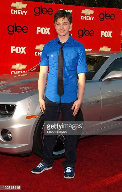 Actor Chris Colfer attends the Glee Los Angeles Premiere Screening And Post Party at the Willow School on September 8 2009 in Culver City California
