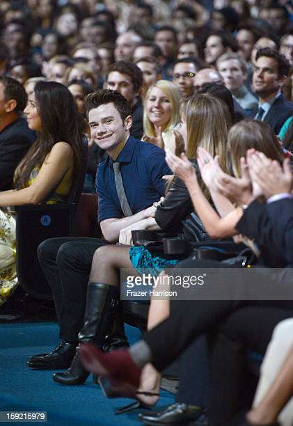 Actor Chris Colfer in the audience at the 39th Annual People's Choice Awards at Nokia Theatre LA Live on January 9 2013 in Los Angeles California