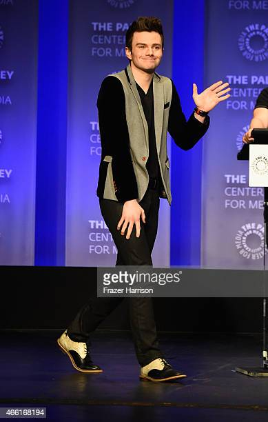 Actor Chris Colfer on stage at The Paley Center For Media's 32nd Annual PALEYFEST LA 'Glee' at Dolby Theatre on March 13 2015 in Hollywood California