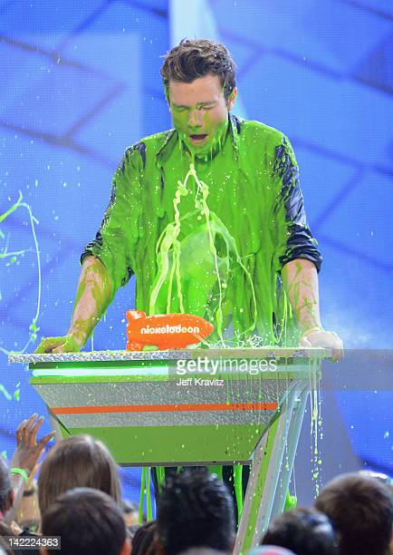 Actor Chris Colfer onstage at the 2012 Nickelodeon's Kids' Choice Awards at Galen Center on March 31 2012 in Los Angeles California
