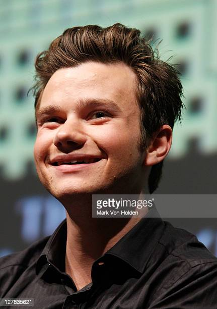 Actor Chris Colfer speaks at the 2011 New Yorker Festival In Conversation With Chris Colfer at SVA Theatre 2 on October 1 2011 in New York City