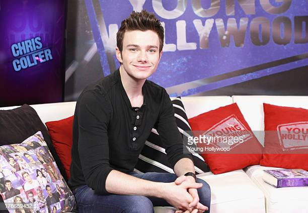 Actor Chris Colfer visits the Young Hollywood Studio on August 16 2013 in Los Angeles California