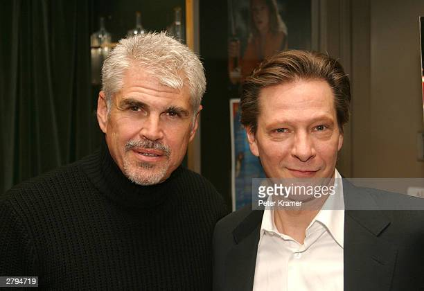Actor Chris Cooper and Director Gary Ross at An Evening With Jeff Bridges photographs from The Last Picture Show to Seabiscuit December 8 2003 in New...