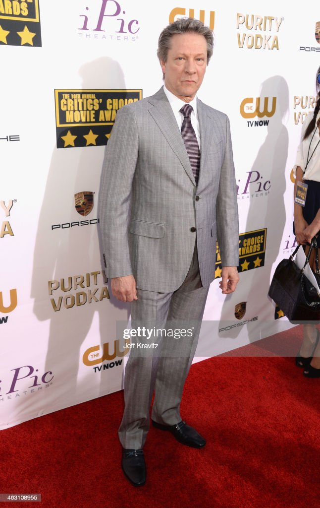 Actor Chris Cooper attends the 19th Annual Critics' Choice Movie Awards at Barker Hangar on January 16, 2014 in Santa Monica, California.