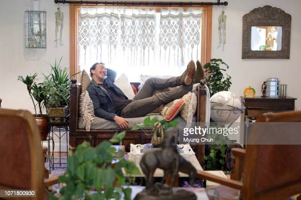 Actor Chris Coy is photographed for Los Angeles Times on October 24 2018 at home in Thousand Oaks California PUBLISHED IMAGE CREDIT MUST READ Myung J...