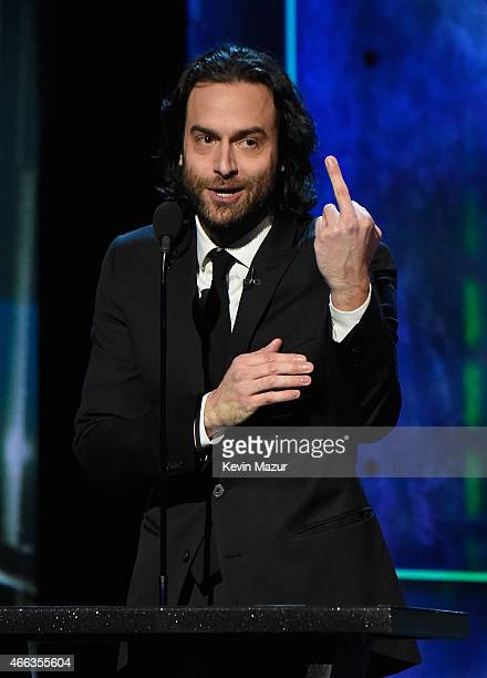 Actor Chris D'Elia speaks onstage at The Comedy Central Roast of Justin Bieber at Sony Pictures Studios on March 14 2015 in Los Angeles California...