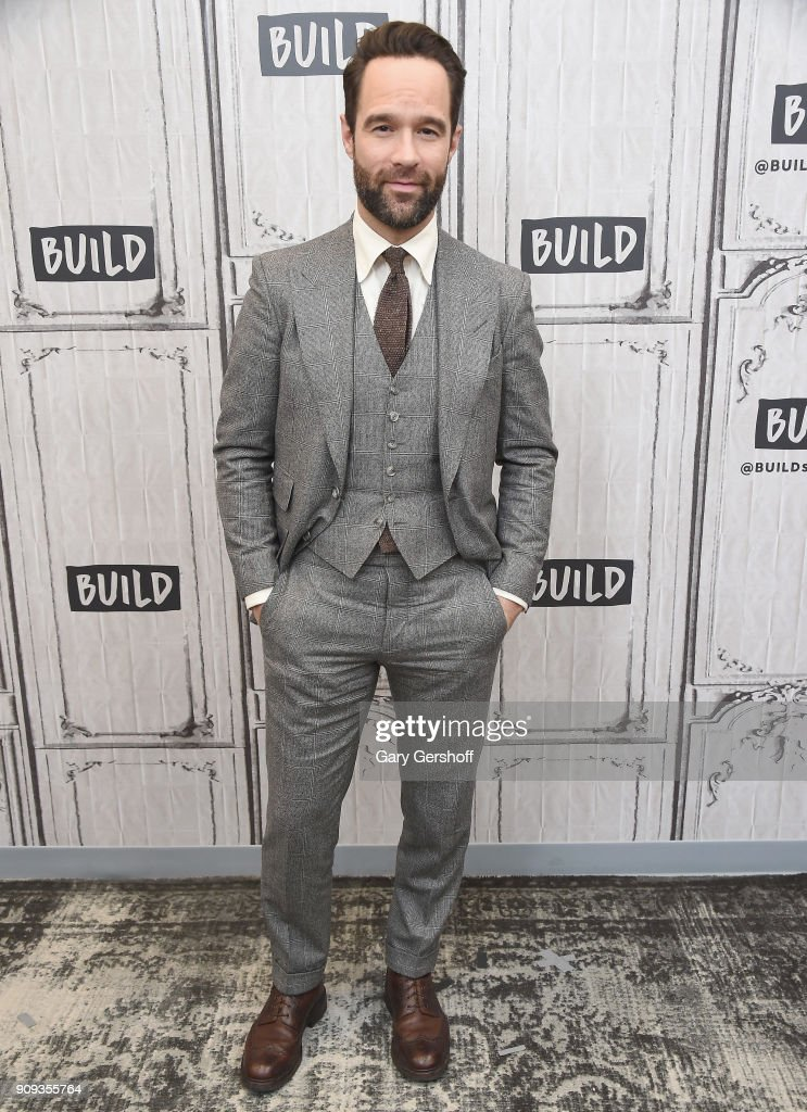 Actor Chris Diamantopoulos visits Build Series to discuss the TV comedy 'Let's Get Physical' at Build Studio on January 23, 2018 in New York City.
