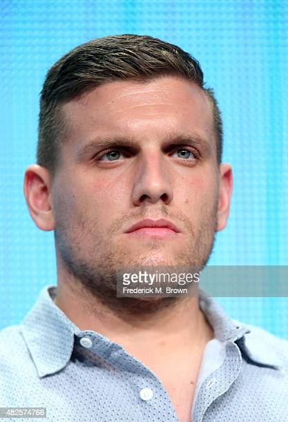 Actor Chris Distefano speaks onstage during the 'Benders' panel discussion at the AMC/IFC Networks portion of the 2015 Summer TCA Tour at The Beverly...