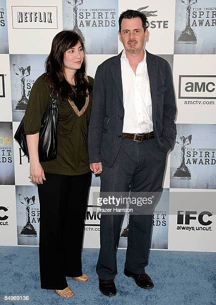 Actor Chris Eigeman and guest arrive at the 24th Annual Film Independent's Spirit Awards held at Santa Monica Beach on February 21 2009 in Santa...