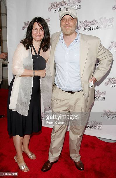 Actor Chris Elliot and wife attend the opening night of Martin Short Fame Becomes Me at the Bernard B Jacobs Theatre August 17 2006 in New York City