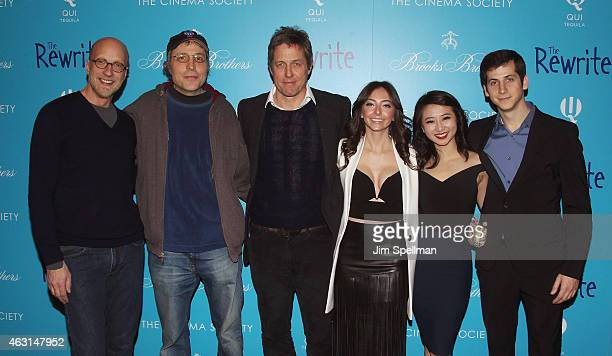 Actor Chris Elliott writer/director Marc Lawrence actors Hugh Grant Emily Morden Annie Q and Steven Kaplan attend The Cinema Society and Brooks...