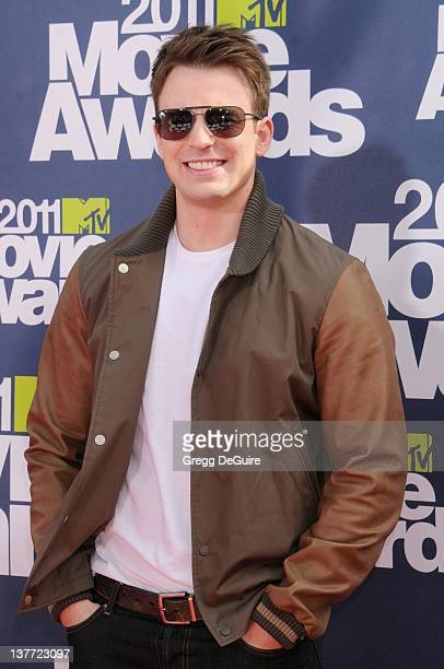 Actor Chris Evans arrives at the 2011 MTV Movie Awards at the Gibson Amphitheatre on June 5 2011 in Universal City California