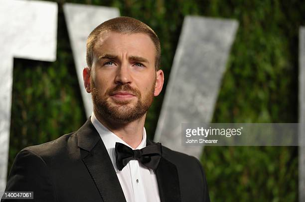 Actor Chris Evans arrives at the 2012 Vanity Fair Oscar Party hosted by Graydon Carter at Sunset Tower on February 26 2012 in West Hollywood...