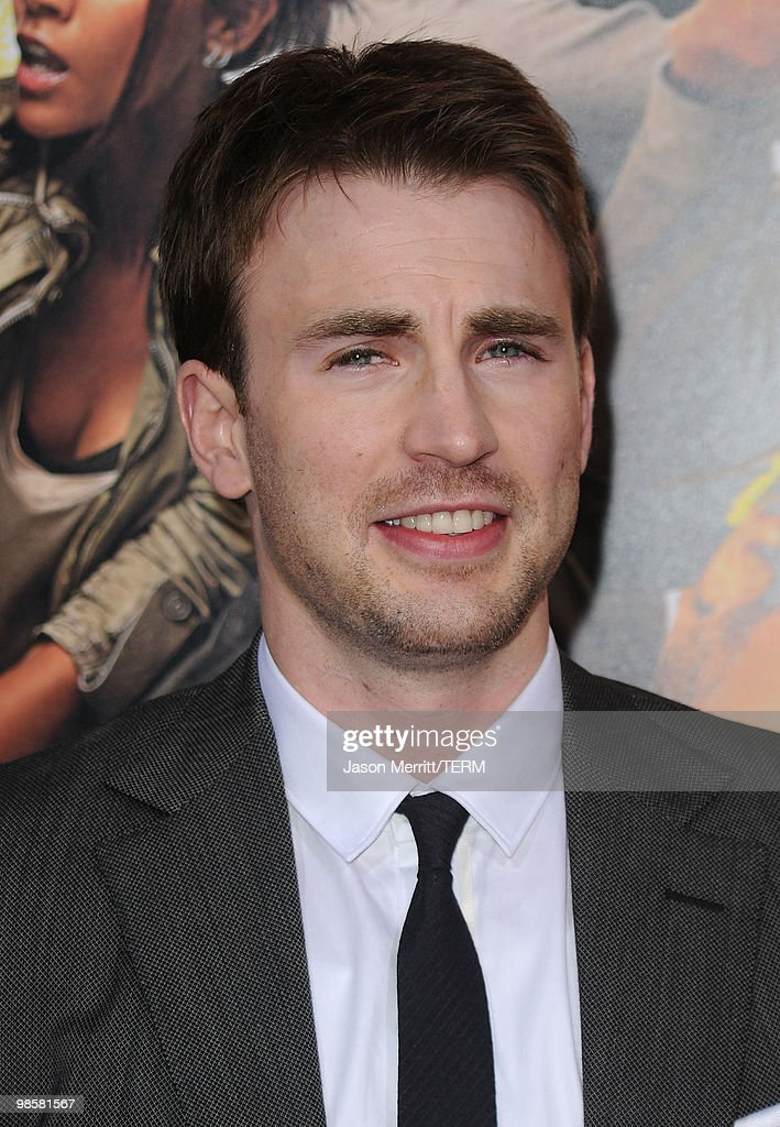 Actor Chris Evans arrives at 'The Losers' Premiere at Grauman's Chinese Theatre on April 20, 2010 in Hollywood, California.