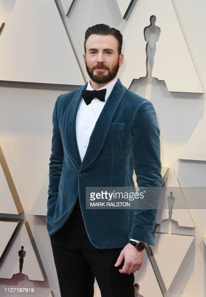 Actor Chris Evans arrives for the 91st Annual Academy Awards at the Dolby Theatre in Hollywood, California on February 24, 2019.