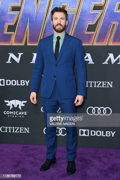 US actor Chris Evans arrives for the World premiere of Marvel Studios' Avengers Endgame at the Los Angeles Convention Center on April 22 2019 in Los...