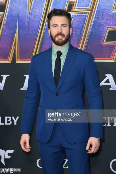 "Actor Chris Evans arrives for the World premiere of Marvel Studios' ""Avengers: Endgame"" at the Los Angeles Convention Center on April 22, 2019 in Los..."