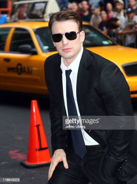 Actor Chris Evans arrives to 'Late Show With David Letterman' at the Ed Sullivan Theater on July 11 2011 in New York City