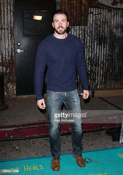 Actor Chris Evans attends the 2nd annual Hollywood Heals spotlight on Tourette Syndrome at House of Blues Sunset Strip on March 5 2015 in West...