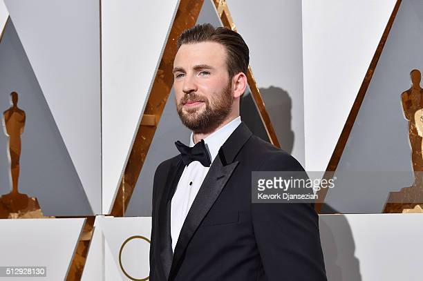Actor Chris Evans attends the 88th Annual Academy Awards at Hollywood Highland Center on February 28 2016 in Hollywood California