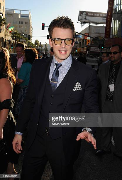 Actor Chris Evans attends the Captain America The First Avenger Los Angeles Premiere at the El Capitan Theatre on July 19 2011 in Hollywood California
