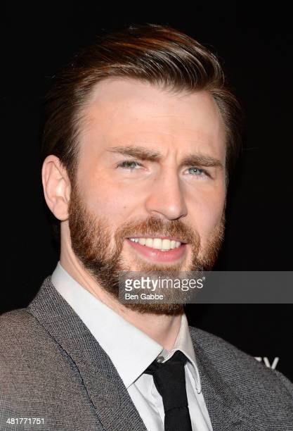 Actor Chris Evans attends The Cinema Society Gucci Guilty screening of Marvel's Captain America The Winter Soldier at Tribeca Grand Hotel on March 31...