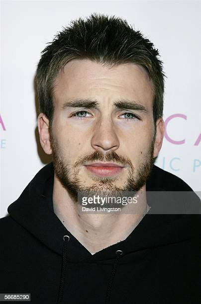 Actor Chris Evans attends the launch party for Escada's newest scent Pacific Paradise at the Lobby on January 26 2006 in West Hollywood California