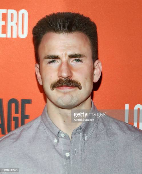 Actor Chris Evans attends the Lobby Hero Broadway opening night party at Bryant Park Grill on March 26 2018 in New York City