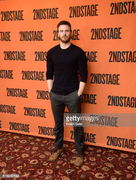 Actor Chris Evans attends the 'Lobby Hero' cast meet and greet at Sardi's on February 16 2018 in New York City