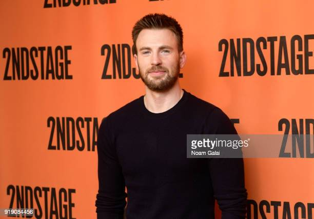 Actor Chris Evans attends the Lobby Hero cast meet and greet at Sardi's on February 16 2018 in New York City