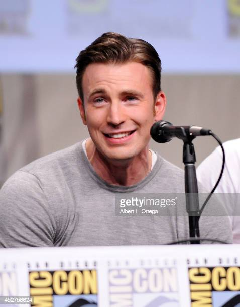 Actor Chris Evans attends the Marvel Studios panel during ComicCon International 2014 at San Diego Convention Center on July 26 2014 in San Diego...