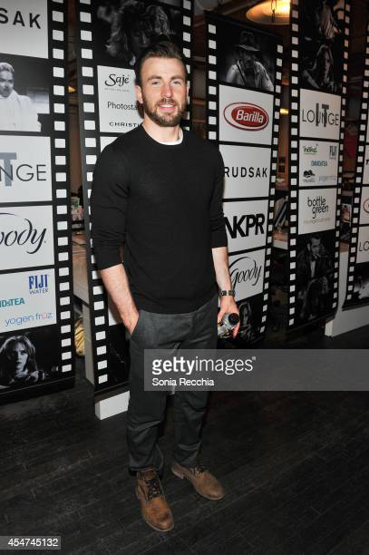 Actor Chris Evans attends the NKPR IT Lounge Portrait Studio With W Magazine Day 2 during the 2014 Toronto International Film Festival at the NKPR...