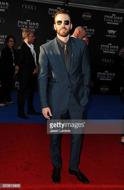 Actor Chris Evans attends the premiere of 'Captain America Civil War' at Dolby Theatre on April 12 2016 in Hollywood California