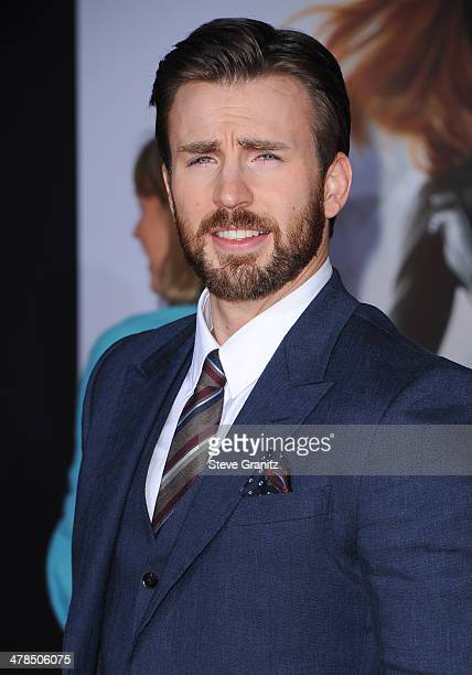 Actor Chris Evans attends the premiere of 'Captain America The Winter Soldier' at the El Capitan Theatre on March 13 2014 in Hollywood California