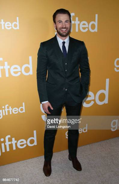 "Actor Chris Evans attends the premiere of Fox Searchlight Pictures' ""Gifted"" at Pacific Theaters at The Grove on April 4, 2017 in Los Angeles,..."