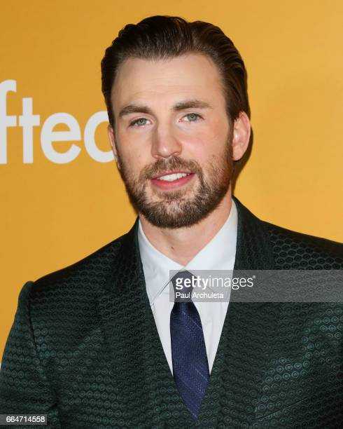 "Actor Chris Evans attends the premiere of ""Gifted"" at Pacific Theaters at the Grove on April 4, 2017 in Los Angeles, California."