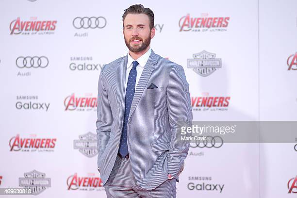 "Actor Chris Evans attends the premiere of Marvel's ""Avengers: Age Of Ultron"" at Dolby Theatre on April 13, 2015 in Hollywood, California."