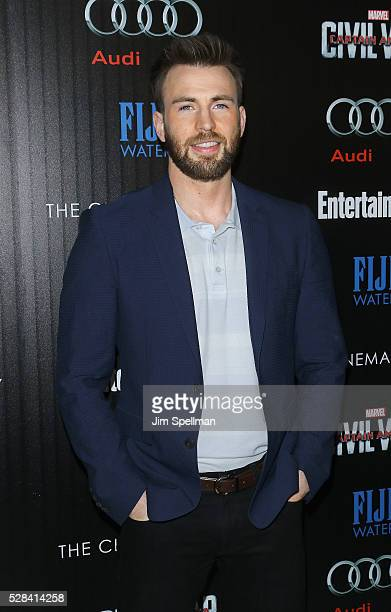 Actor Chris Evans attends the screening of Marvel's Captain America Civil War hosted by The Cinema Society with Audi FIJI at Brookfield Place on May...