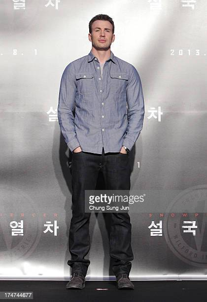 Actor Chris Evans attends the 'Snowpiercer' press conference at Conrad Hotel on July 29, 2013 in Seoul, South Korea. The film will open in South...