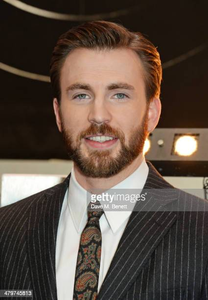 Actor Chris Evans attends the UK Film Premiere of Captain America The Winter Soldier at Westfield London on March 20 2014 in London England