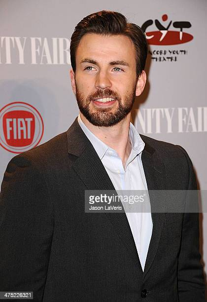 Actor Chris Evans attends the Vanity Fair Campaign Young Hollywood party at No Vacancy on February 25 2014 in Los Angeles California