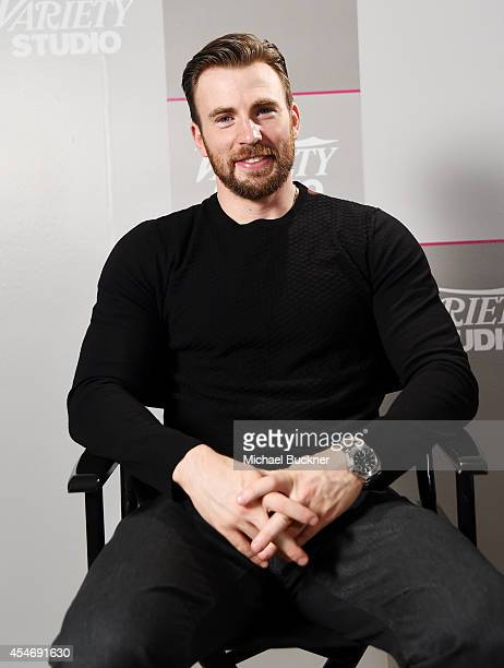 Actor Chris Evans attends the Variety Studio presented by Moroccanoil at Holt Renfrew during the 2014 Toronto International Film Festival on...