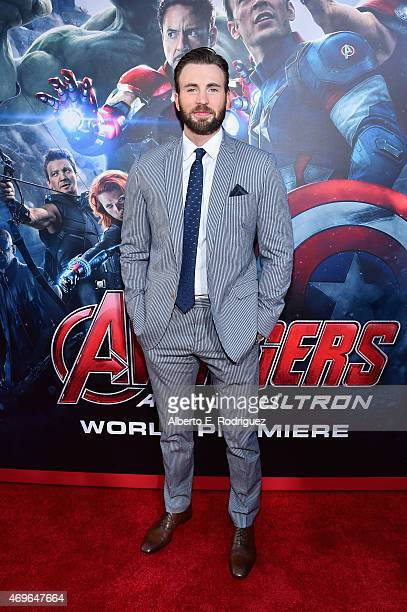 Actor Chris Evans attends the world premiere of Marvel's Avengers Age Of Ultron at the Dolby Theatre on April 13 2015 in Hollywood California