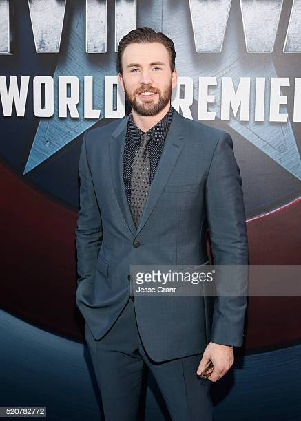 "Actor Chris Evans attends The World Premiere of Marvel's ""Captain America: Civil War"" at Dolby Theatre on April 12, 2016 in Los Angeles, California."